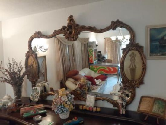 Large Antique Mirror - Excellent Condition