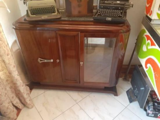 Vintage Display Cabinet with key - 49 x 21 x 40 inches