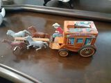 Santa Fe Stage Coach Toy with Cap Action - 12 x 4 inches