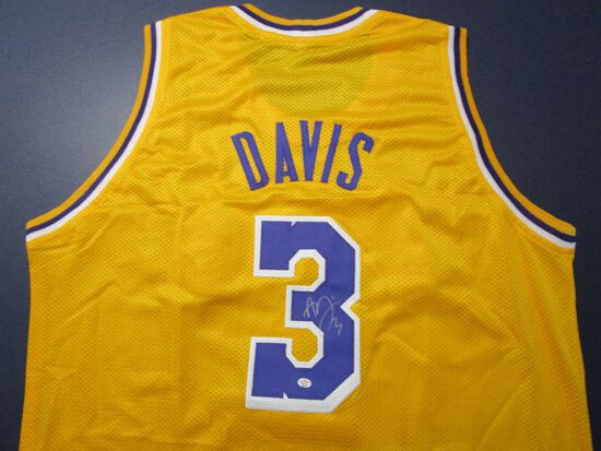 Anthony Davis of the LA Lakers signed autographed basketball jersey PAAS COA 751