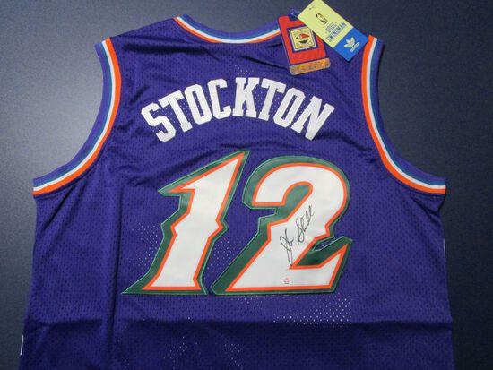 John Stockton of the Utah Jazz signed autographed basketball jersey PAAS COA 498