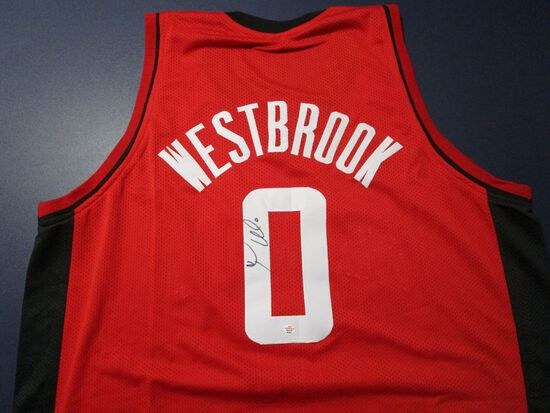Russell Westbrook of the Houston Rockets signed autographed basketball jersey PAAS COA 921