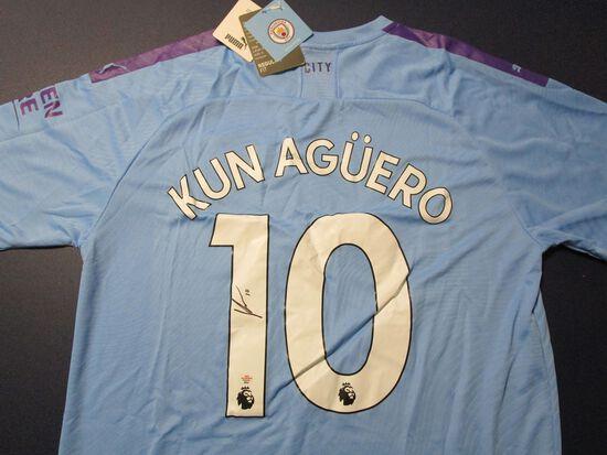 Sergio Kun Aguero soccer superstar signed autographed soccer jersey PAAS COA 531