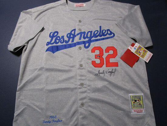 Sandy Koufax of the LA Dodgers signed autographed baseball jersey ATL COA 688