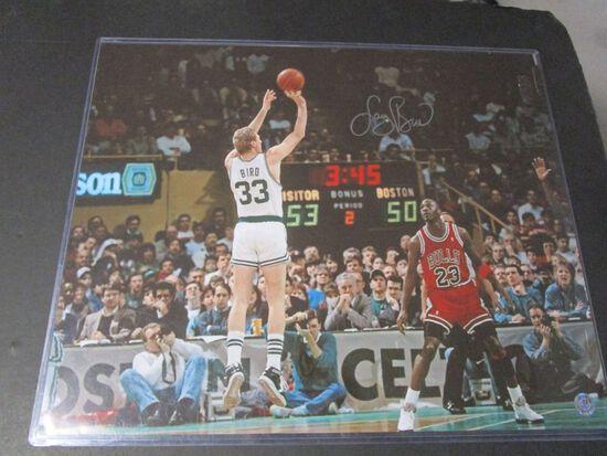 Larry Bird of the Boston Celtics signed autographed 16x20 photo Player Holo COA