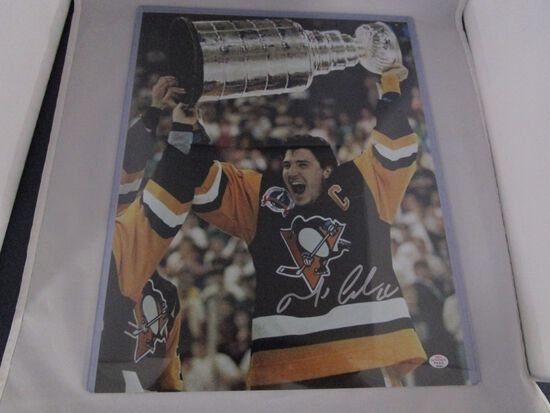 Mario Lemieux of the Pittsburgh Penguins signed autographed 11x14 photo PAAS COA 491