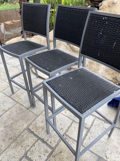 4 Outdoor Tall Bar Stools