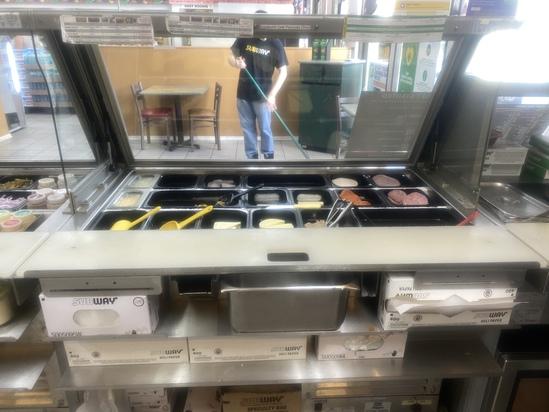 "48"" Refrigerated Sandwich Prep Cooler"