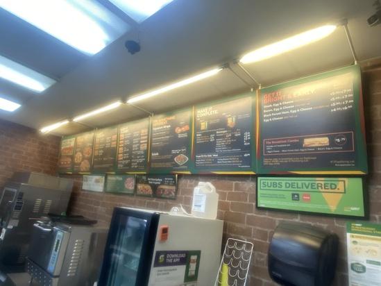 Large Illuminated Menu Board System