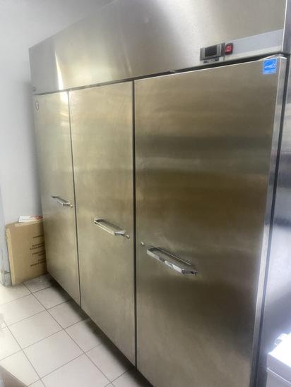 Three Door Stainless Steel Freezer