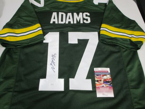 Davante Adams of the Green Bay Packers signed autographed football jersey JSA COA 776
