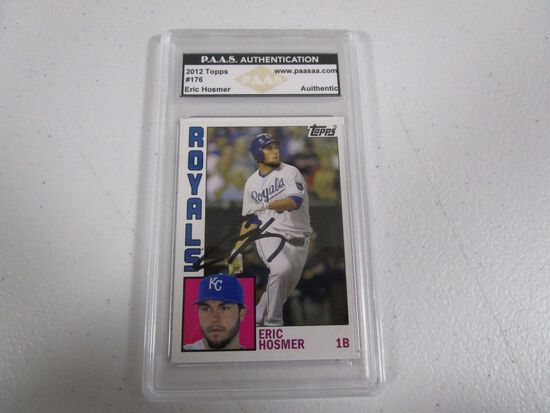 Eric Hosmer Kansas City Royals signed autographed 2012 Topps #176 PAAS Authentic