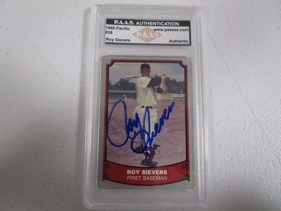 Roy Sievers signed autographed 1988 Pacific #26 PAAS Authentic