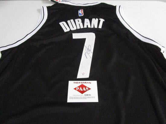 Kevin Durant of the Brooklyn Nets signed autographed basketball jersey PAAS COA 810