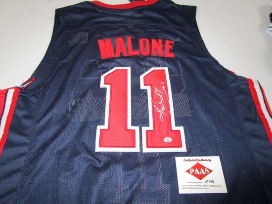 Karl Malone of TEAM USA signed autographed basketball jersey PAAS COA 145