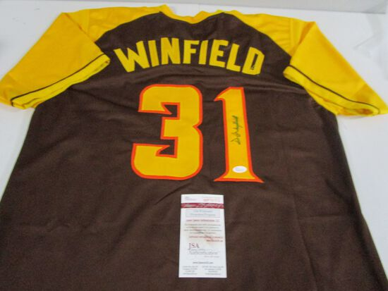 Dave Winfield of the San Diego Padres signed autographed baseball jersey JSA COA 712