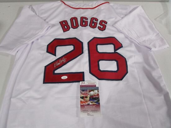 Wade Boggs of the Boston Red Sox signed autographed baseball jersey JSA COA 861