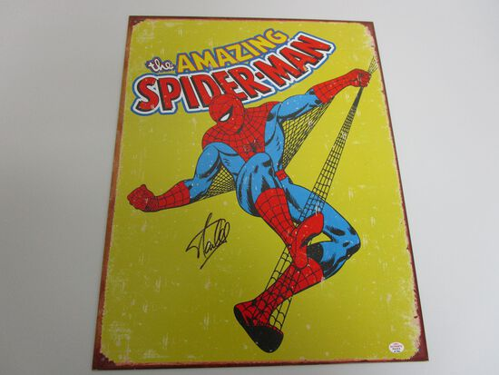 Stan Lee Spiderman signed autographed 12.5x16 metal sign PAAS COA 784