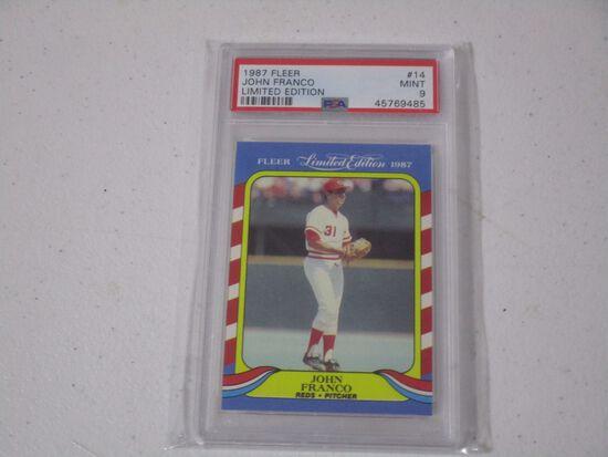 John Franco Cincinnati Reds 1987 Fleer Limited Edition #14 graded PSA Mint 9