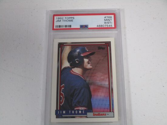 Jim Thome Cleveland Indians 1992 Topps #768 graded PSA Mint 9(ST)