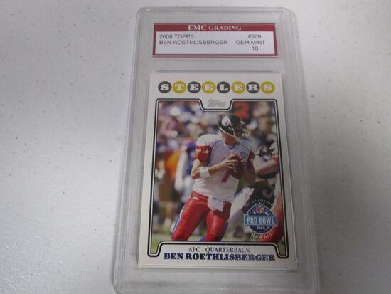 Ben Roethlisberger Pittsburgh Steelers 2008 Topps #309 graded EMC Gem Mint 10
