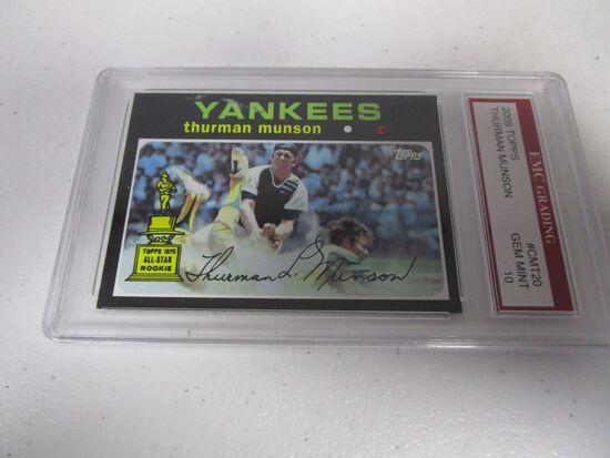 Thurman Munson NY Yankees 2009 Topps 1971 Topps #CMT20 graded EMC Gem Mint 10