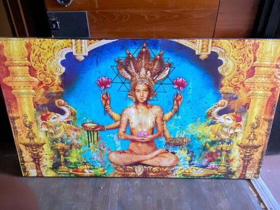 """64"""" x 36"""" Zen Painting"""