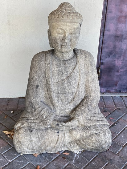 "43"" Sitting Buddha Concrete"