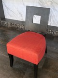 Modern Wood And Uphostered Chairs