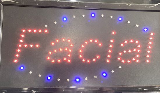 "Two Color LED ""FACIAL"" Sign"