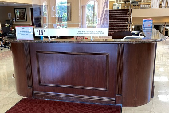 6 by 10 Reception Counter with Granite Top