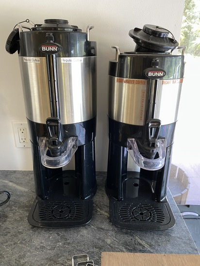 Bunn Counter Top Insulated Hot Coffee Dispensers