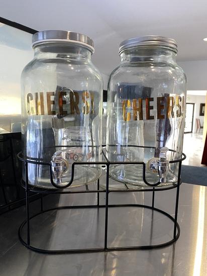 Two Jar Decoratice Drink Dispensing System