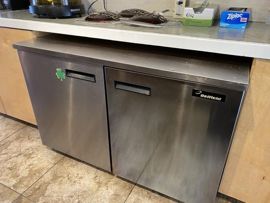 "48"" Delfield Stainless Steel Work Top Refrigerator"