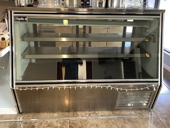 6 ft Glass Front Stainless Steel Deli Case