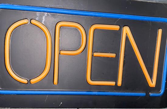 """Illuminated """"OPEN"""" Sign"""
