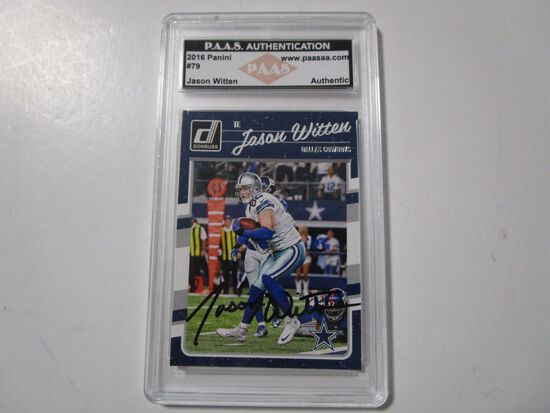 Jason Witten of the Dallas Cowboys signed autographed sports card slabbed PAAS COA 889