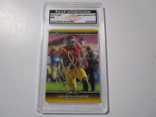 JuJu Smith Schuster of the USC Trojans signed autographed sports card slabbed PAAS COA 894