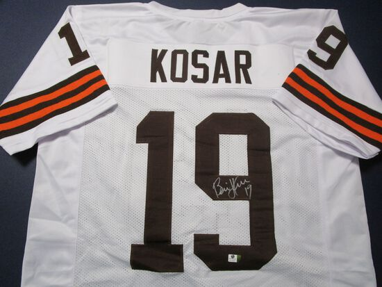 Bernie Kosar of the Cleveland Browns signed autographed football jersey GA COA 426