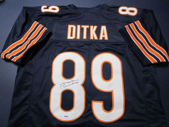 Mike Ditka of the Chicago Bears signed autographed football jersey PSA DNA COA 427