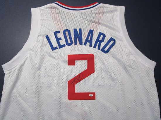 Kawhi Leonard of the LA Clippers signed autographed basketball jersey PAAS COA 548