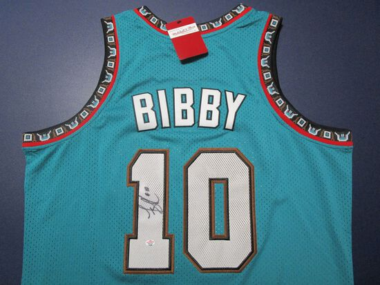 Mike Bibby of the Vancouver Grizzlies signed autographed basketball jersey PAAS COA 288