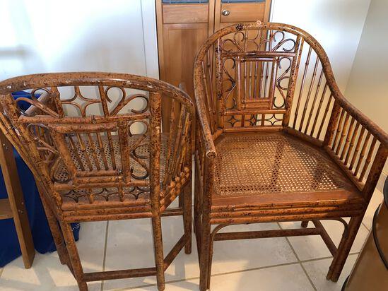 (2) Bamboo Stlye Folding Side Chairs