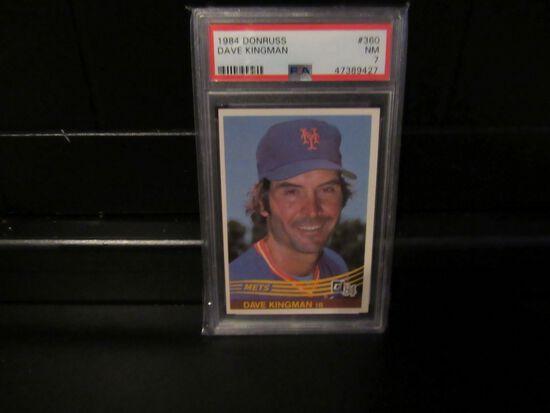 Dave Kingman New York Mets 1984 Donruss #360 PSA graded NM 7
