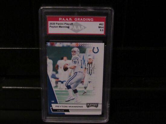 Peyton Manning Indianapolis Colts 2020 Panini Playoff #62 PAAS graded Mint 9.5