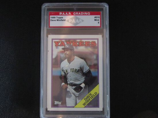 Dave Winfield New York Yankees 1988 Topps #510 PAAS graded Mint 9