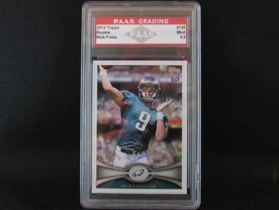 Nick Foles Philadelphia Eagles 2012 Topps ROOKIE #186 PAAS graded Mint 9.5