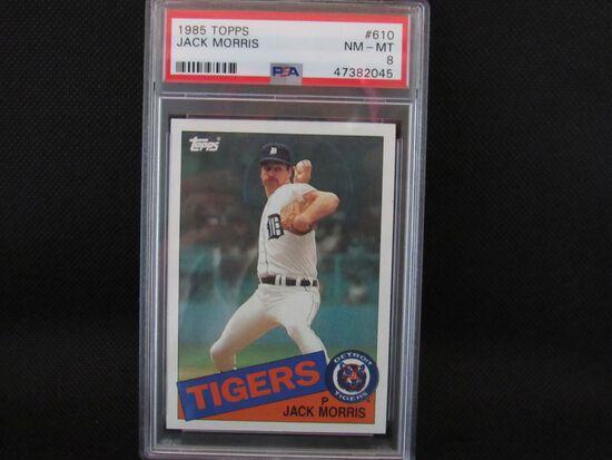 Jack Morris Detroit Tigers 1985 Topps #610 PSa graded NM-MT 8