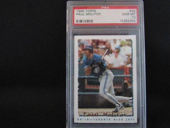 Paul Molitor Toronto Blue Jays 1995 Topps #30 PSA graded Gem Mint 10