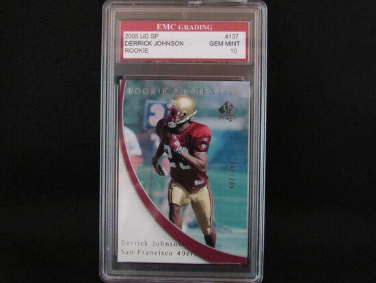 Derrick Johnson San Francisco 49ers 2005 Upper Deck SP ROOKIE #137 EMC graded Gem Mint 10